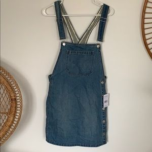 Free people jean overall dress